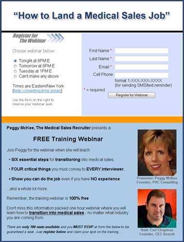 How to Get into Medical Sales webinar