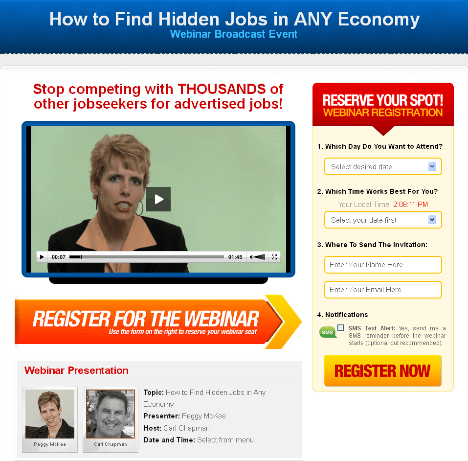 how to hidden jobs webinar gets a thank you career how to hidden jobs in any economy registration page > > > click