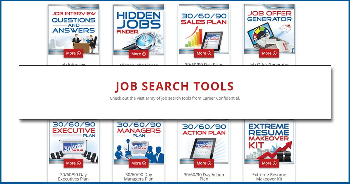 job search tools for job search success career confidential - Resume Finder