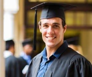 handsome university graduate