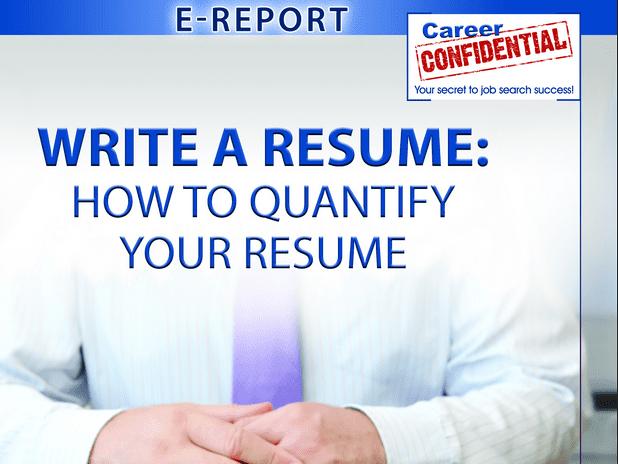 How to quantify a resume