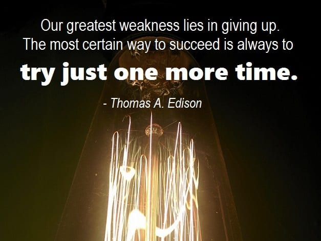 job search motivation tip Edison quote