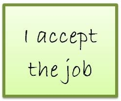 Job acceptance email: how to nail it