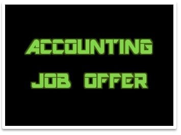 accounting job offer