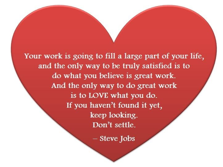 Do you love your work