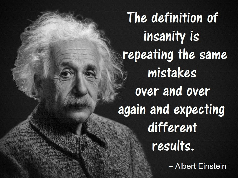 Monday Motivator for Your Job Search - Definition of Insanity