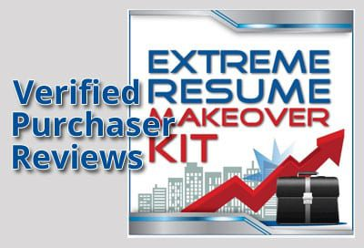 Verified Purchaser Reviews for Extreme Resume Makeover Kit