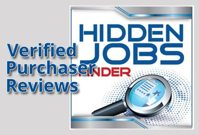 Verified Purchaser Reviews for Hidden Jobs Finder
