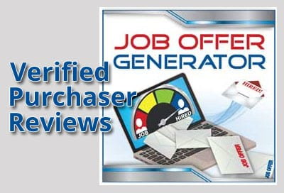 Verified Purchaser Reviews for Job Offer Generator
