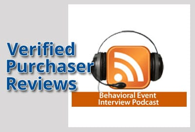 Verified Purchaser Reviews for Behavioral Event Interview Podcast