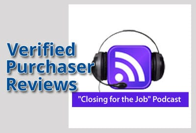 Verified Purchaser Reviews for Closing for the Job Podcast